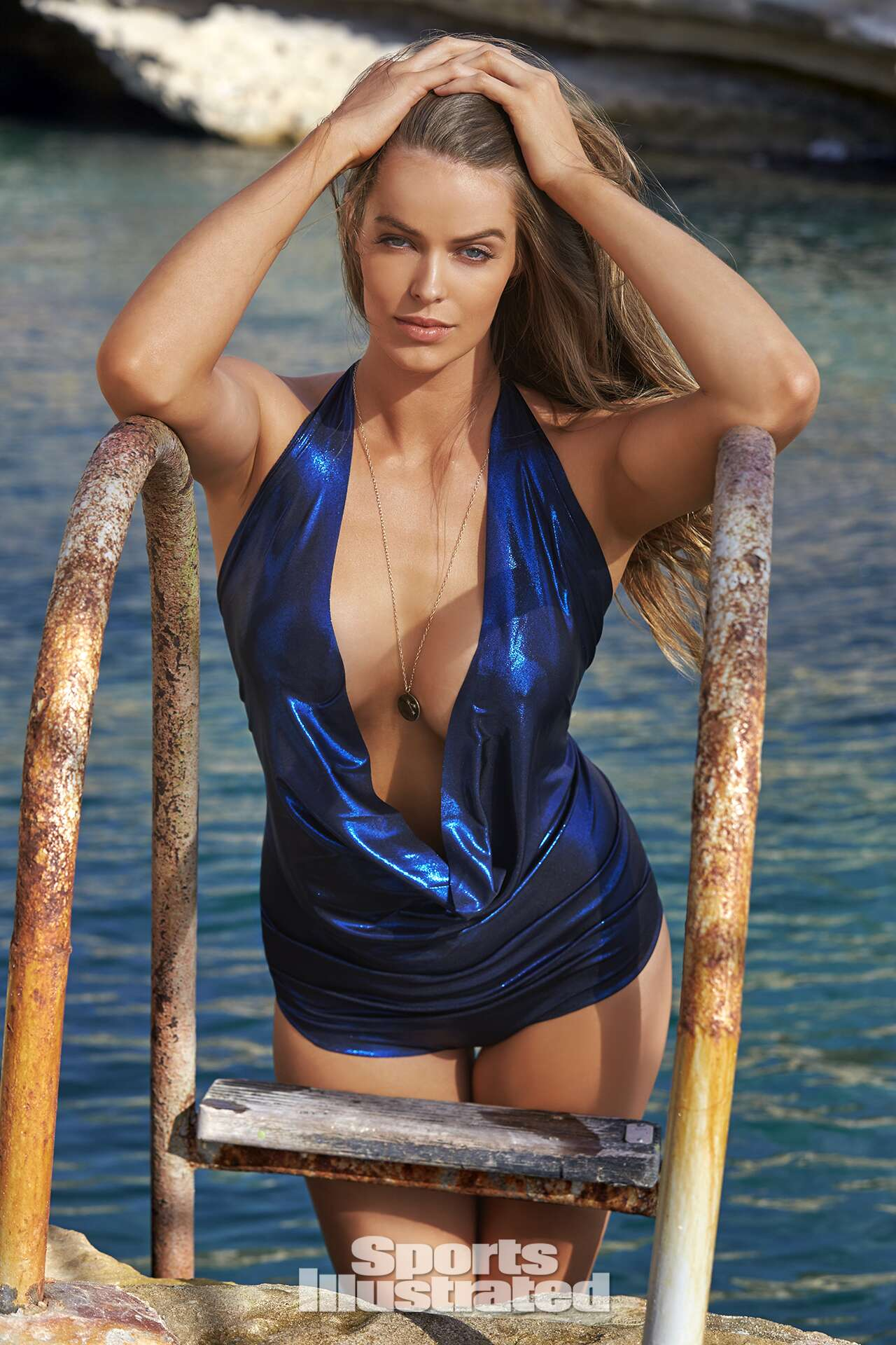 Robyn Lawley was photographed by Ben Watts in Malta. Swimsuit by Hayhay Couture By Hayley Kaysing.