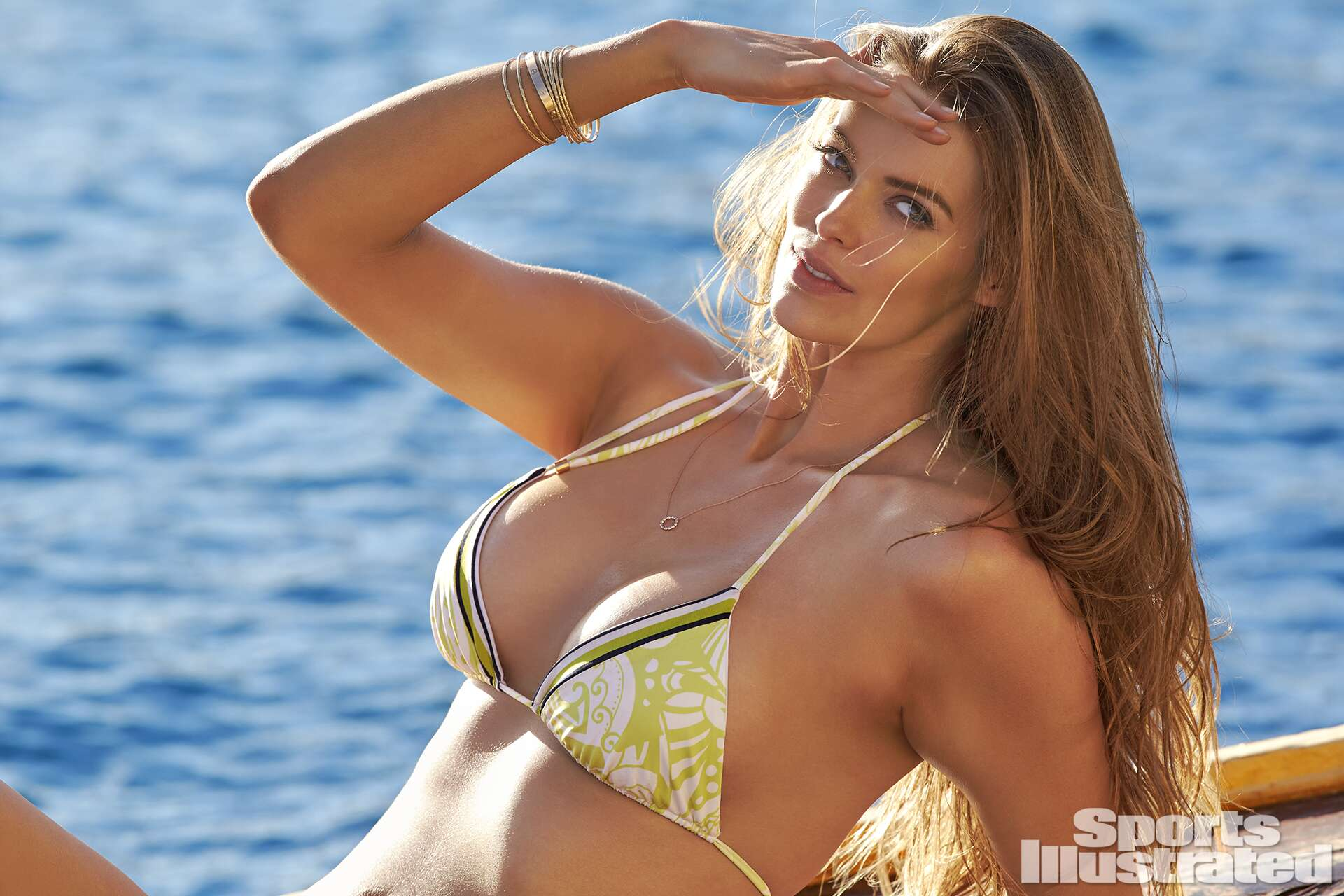 <p>Robyn Lawley was photographed by Ben Watts in Malta. Swimsuit by Ola Vida.</p>