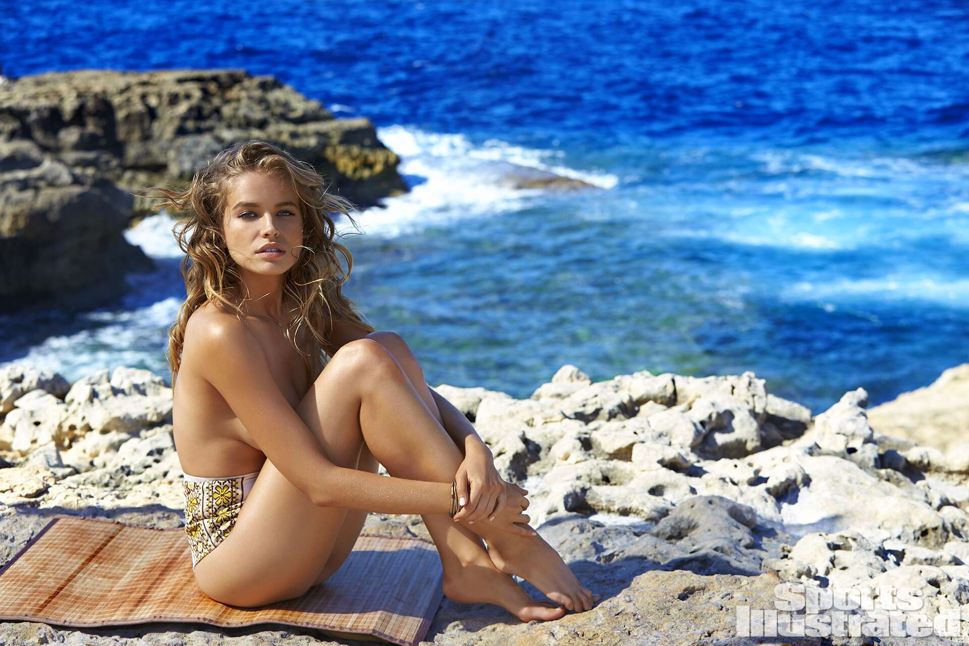 Tanya Mityushina was photographed by Ben Watts in Malta. Swimsuit by Pacific And Driftwood.