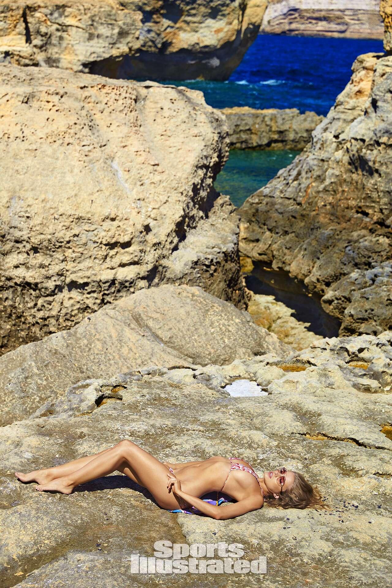 Tanya Mityushina was photographed by Ben Watts in Malta. Swimsuit by Toxic Sadie Swimwear.