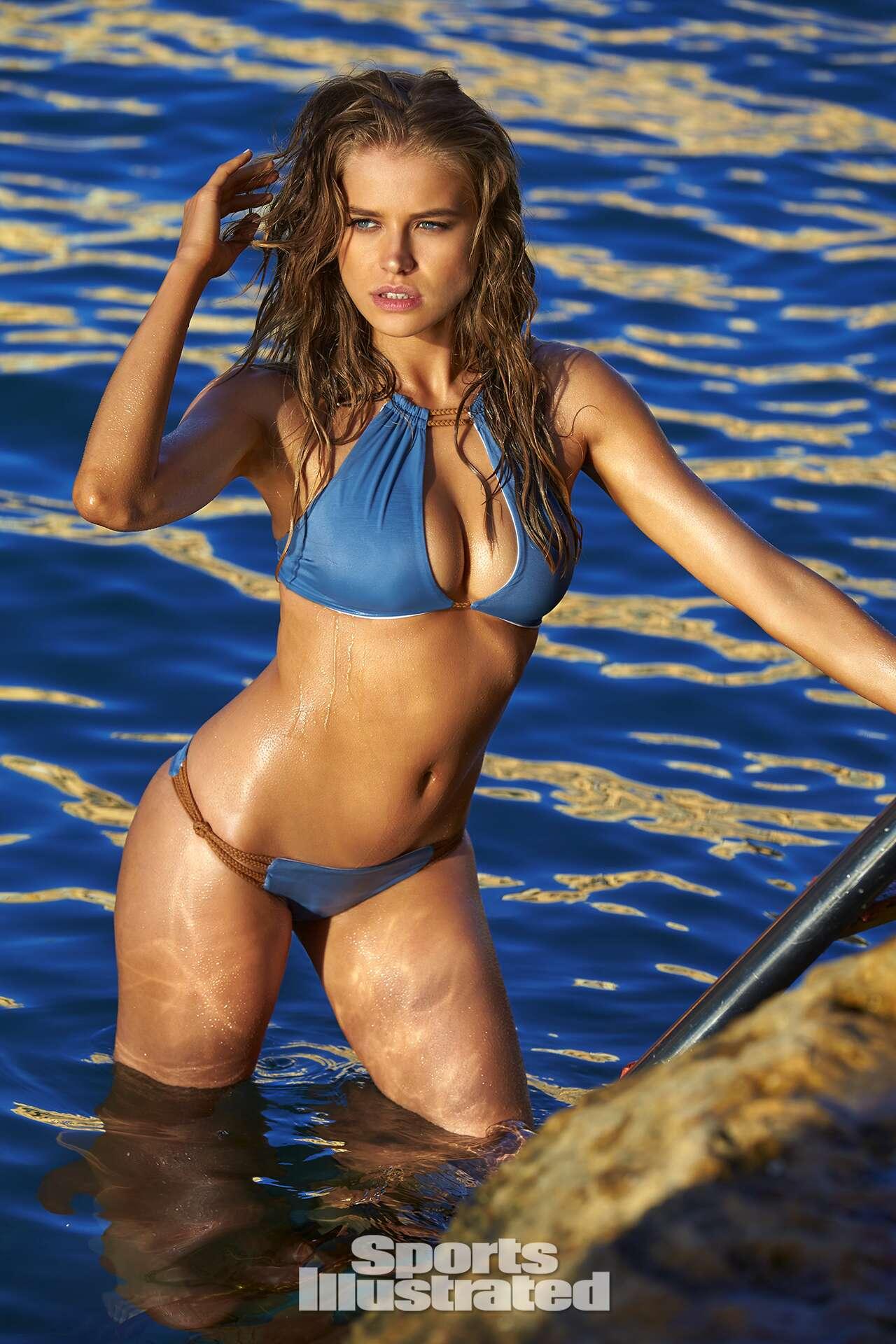 Tanya Mityushina was photographed by Ben Watts in Malta. Swimsuit by KOA Swim.