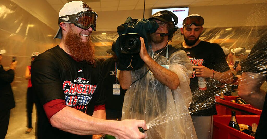 Watch: Red Sox Troll Yankees, Celebrate to 'New York, New York' in Clubhouse After Winning ALDS