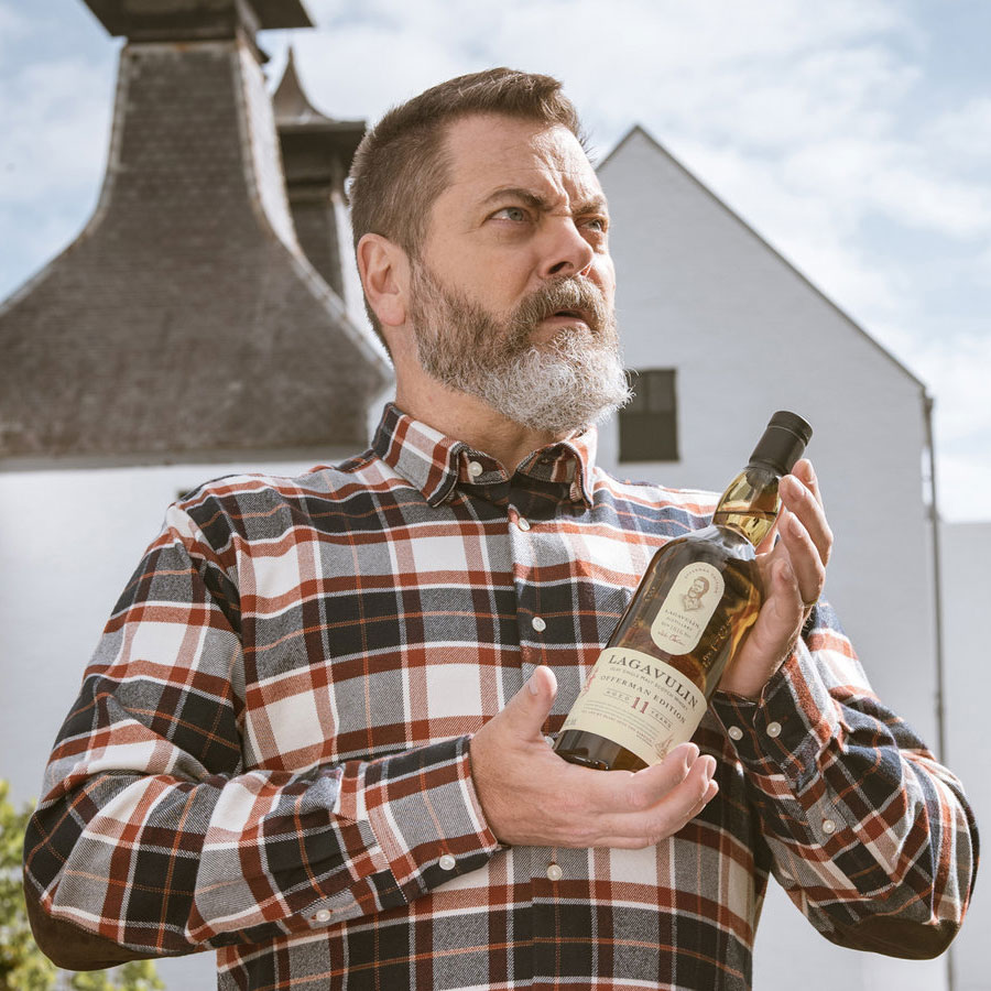 Nick Offerman Is Getting His Own Scotch Courtesy of Lagavulin