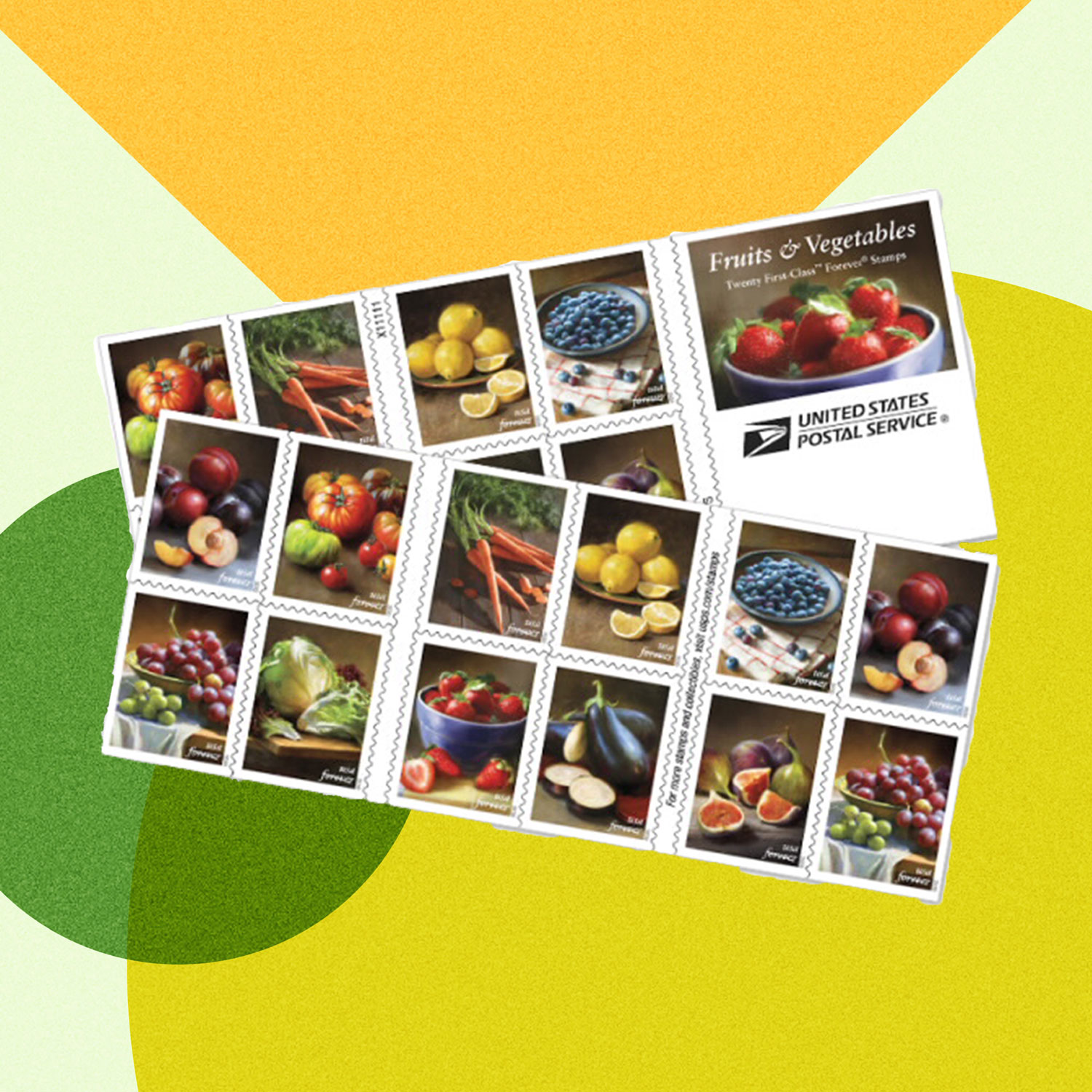 We're Obsessed with These New Fruit and Vegetable Stamps from the USPS
