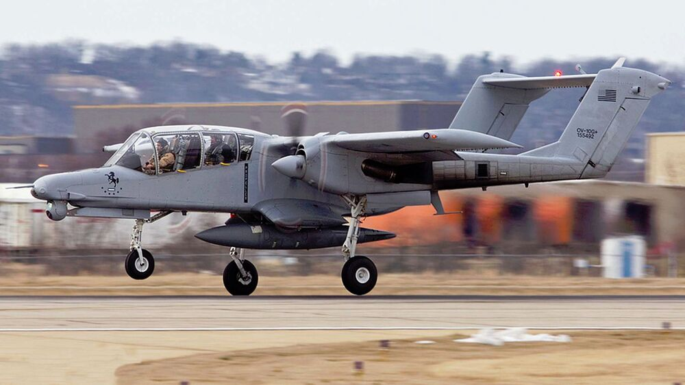 One of the modified OV-10G+ Broncos that went to Iraq in 2015.