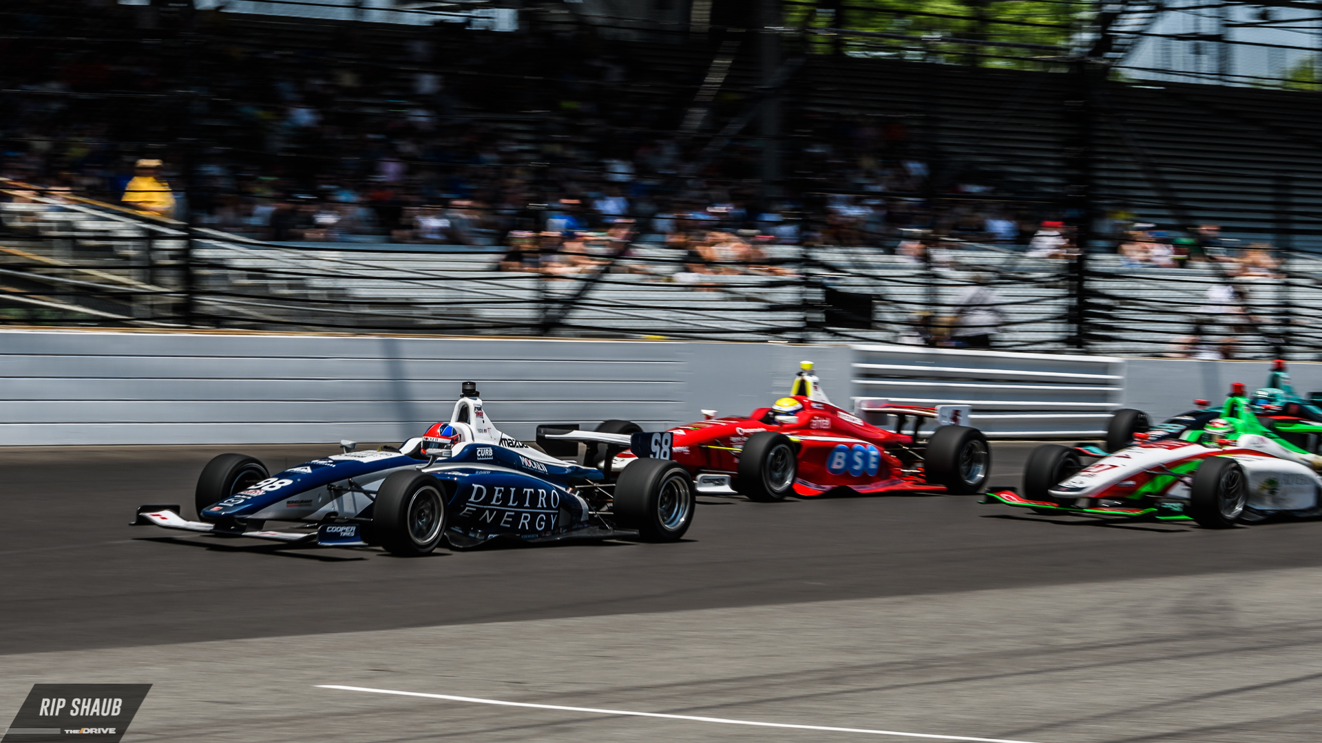 Development drivers compete in road course, street course, and oval configurations as part of the MRTI.