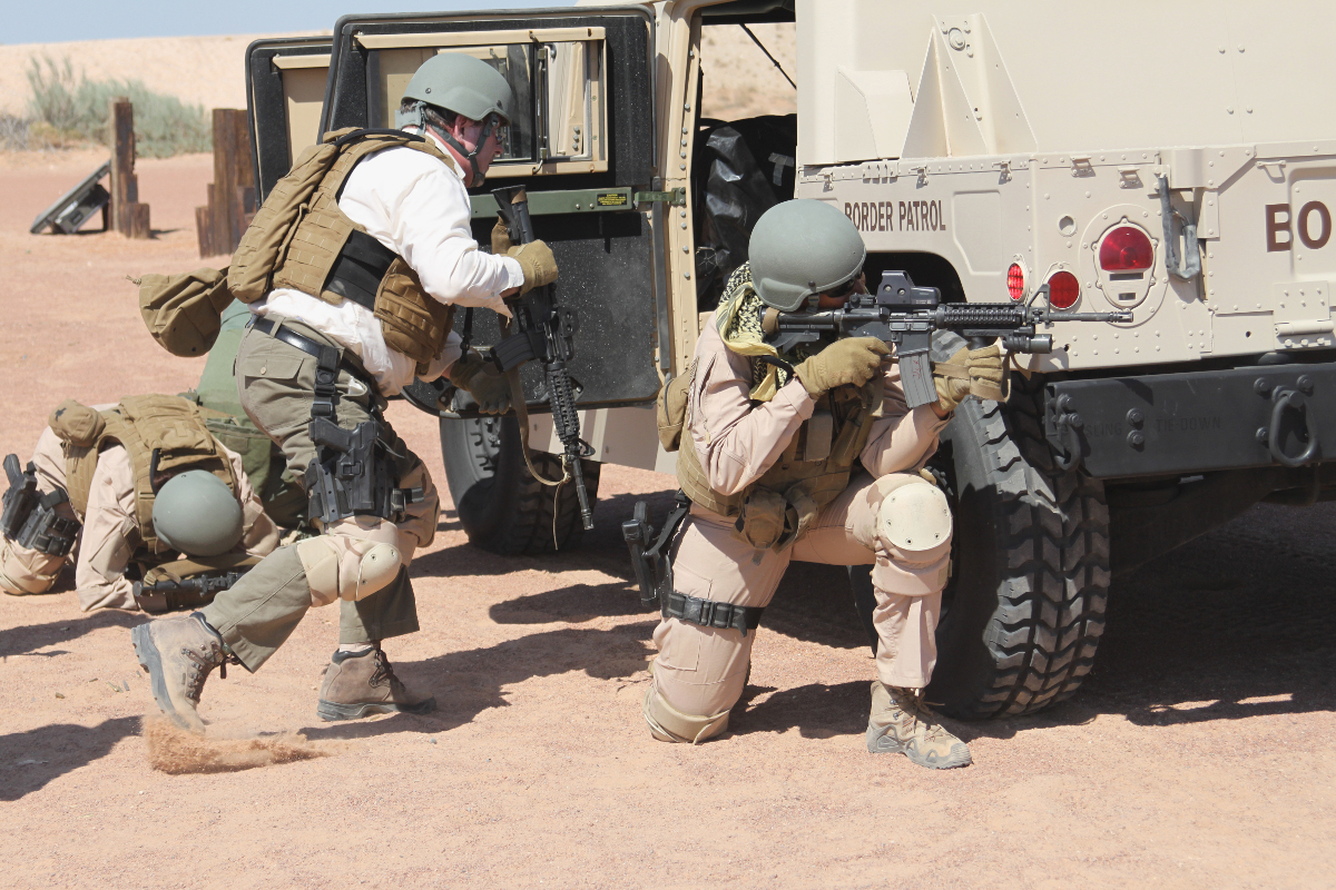 Members of BORTAC during an unrelated training exercise.