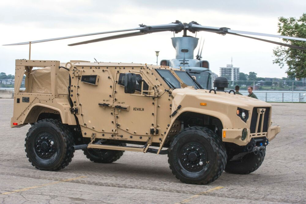 A Marine Corps Joint Light Tactical Vehicle.