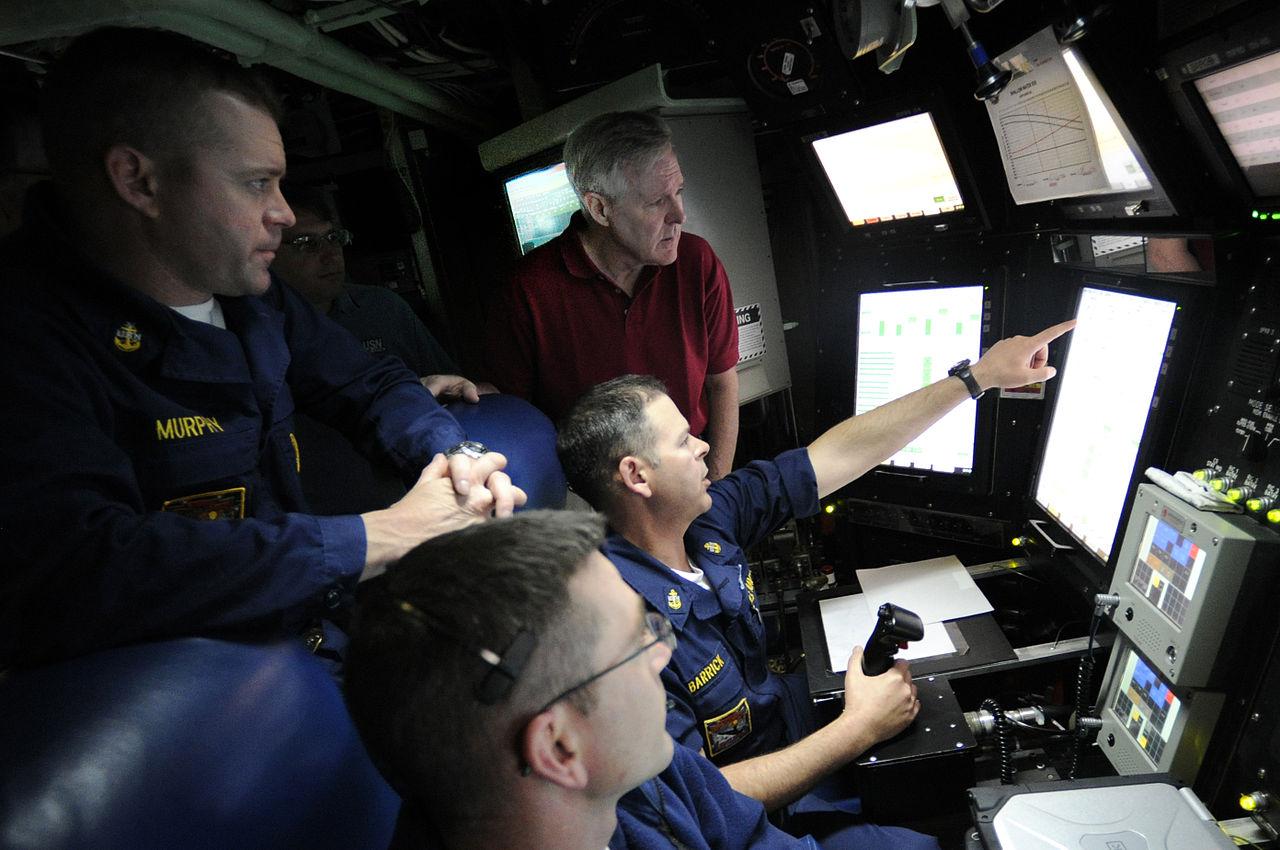 The futuristic conn aboard <em>USS New Mexico </em>(SSN-779).