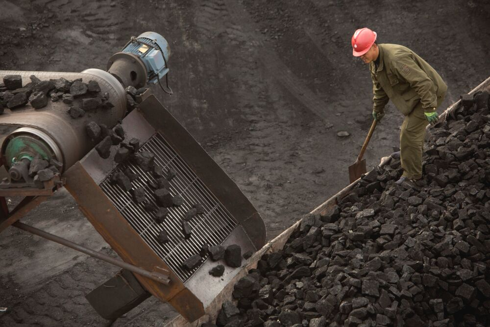 A worker at a Chinese coal mine in Inner Mongolia.