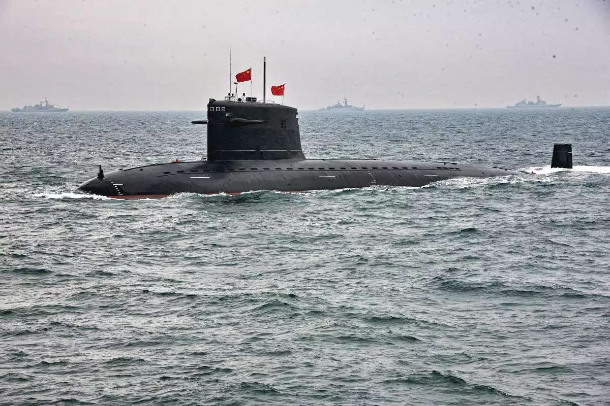 A Chinese Type 091 nuclear-powered attack submarine.