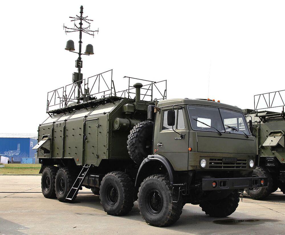 A Russian 1L266 electronic warfare vehicle.