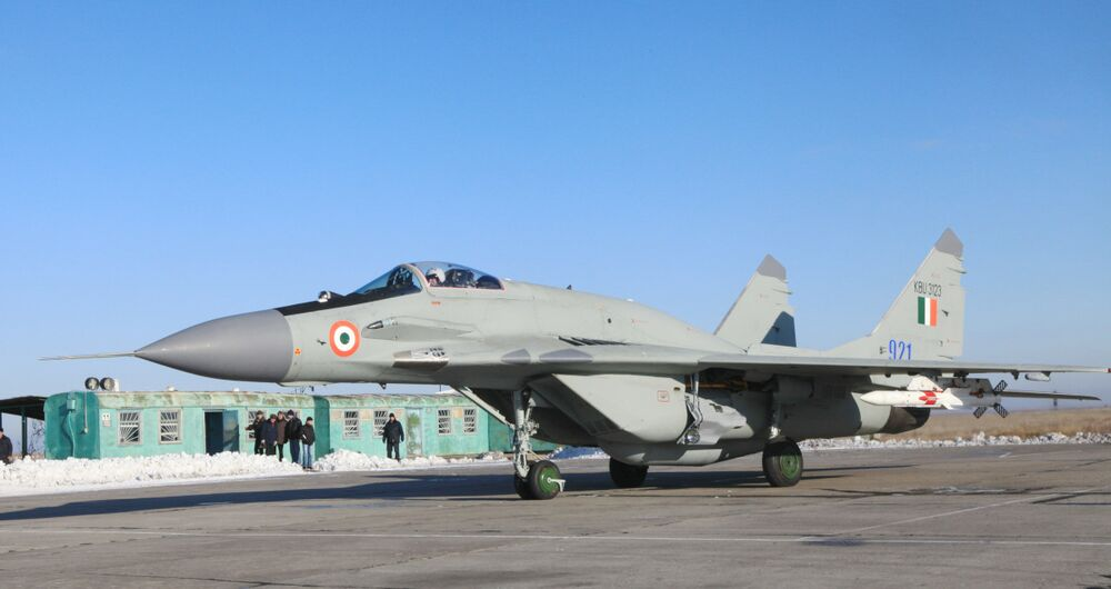 An Indian MiG-29 upgraded by MiG in Russia to the UPG standard.