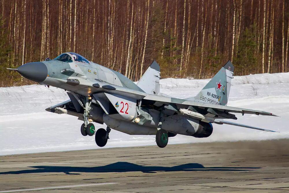 A Russian MiG-29SMT.