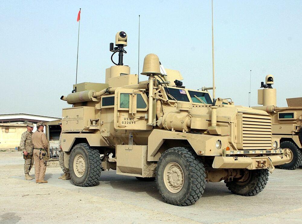 A USMC 4x4 Cougar MRAP in Iraq in 2007.