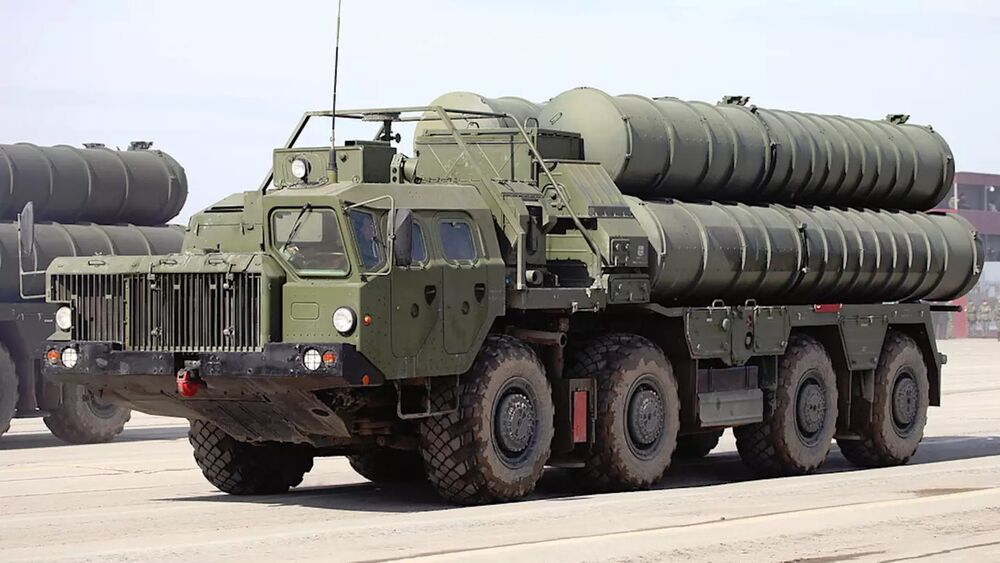 A transporter-erector-launcher for the S-400 surface-to-air missile system.